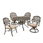 Regent 5 Piece Dining Set with Cushions Size: 48