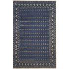 Berta Hand-Knotted Indigo/Beige Area Rug Rug Size: 6' x 9'