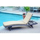 Valery Chaise Lounge with Cushion Pack of 2 Cushion Color: Tan, Finish: Espresso
