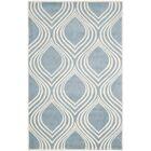 Aula Hand-Tufted Blue/Ivory Area Rug Rug Size: Rectangle 6' x 9'