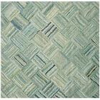 Millia Hand-Tufted Green Area Rug Rug Size: Square 8'