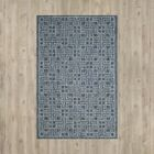 Romola Navy/Grey Area Rug Rug Size: Square 6'7