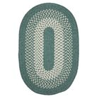 Melody Hand-Woven Green Area Rug Rug Size: Oval 2' x 12'
