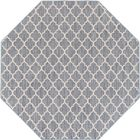 Chesterville Gray/Beige Area Rug Rug Size: Octagon 8'
