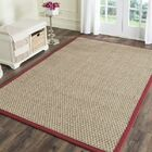 Richmond Hand-Woven Natural/Red Area Rug Rug Size: Rectangle 4' x 6'