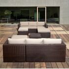 Aquia Creek 6 Piece Sunbrella Sectional Set with Cushions