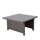 Aquia Creek Low Patio Dining Table Color: Gray