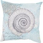 Chaucer Mesmerizing Sea Shell Outdoor Throw Pillow Size: 26