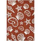 Monticello Cardita Shells Hand-Hooked Terracotta Indoor/Outdoor Area Rug Rug Size: Rectangle 3'6