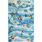 Kelch Blue Tropical Fish Area Rug Rug Size: Rectangle 5' x 7'6