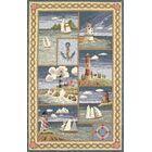 Livia Coastal Views Nautical Novelty Rug Rug Size: Rectangle 8' x 10'6