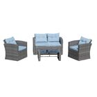 Denton 4 Piece Sofa Set with Cushions