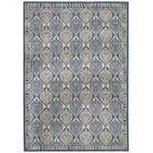 Romola Blue/Ivory Checked Outdoor Rug Rug Size: Rectangle 5'3