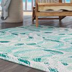 Cedarville Geometric Teal Indoor/Outdoor Area Rug Rug Size: 4' x 6'