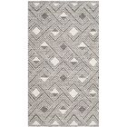 Aragam Hand-Woven Charcoal/Ivory Area Rug Rug Size: 5' x 8'