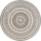 Anguila Stripe Gray/Beige Indoor/Outdoor Area Rug Rug Size: Round 8'6