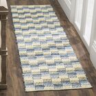 Alberta Hand-Woven Gold Area Rug Rug Size: Square 6'