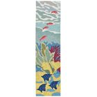 Clowers Coral Reef Hand-Tufted Blue Indoor/Outdoor Area Rug Rug Size: Runner 2' x 8'