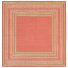 Clatterbuck Etched Pink Indoor/Outdoor Area Rug Rug Size: Square 7'10