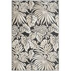 Patricia Black/Beige Indoor/Outdoor Area Rug Rug Size: Rectangle 6'7