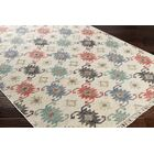 Essex Hand-Woven Blue/Red Area Rug Rug Size: Rectangle 5' x 7'6