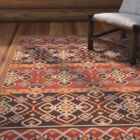 Rangely Red/Chocolate Indoor/Outdoor Area Rug Rug Size: Rectangle 5'3
