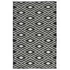 Greenfield Black & White Indoor/Outdoor Area Rug Rug Size: Rectangle 3' x 5'