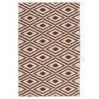 Greenfield Cream/Brick Indoor/Outdoor Area Rug Rug Size: Rectangle 5' x 7'6