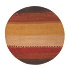 Havsa Desert Gabbeh Hand-Knotted Red/Yellow Area Rug Rug Size: Rectangle 9'6