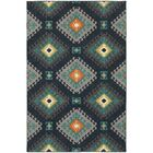 Indian Hills Navy/Grey Area Rug Rug Size: Rectangle 9'10