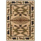 Johnson Village Ivory/Green Area Rug Rug Size: Rectangle 3'10