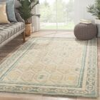 Caesars Hand-Tufted Ivory/Blue Area Rug Rug Size: Rectangle 2' x 3'