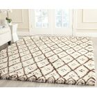 Sheridan Hand-Tufted Wool Ivory/Brown Area Rug Rug Size: Rectangle 6' x 9'