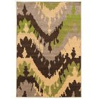 Thorton Brown/Green Area Rug Rug Size: Rectangle 8' x 10'2