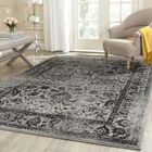 Howser Gray/Black Area Rug Rug Size: Rectangle 10' x 14'