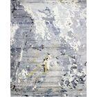 Kaylee Handmade Knotted Ivory/Grey Area Rug Rug Size: Rectangle 6' x 9'