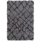 Rechanoi Gray/Black Area Rug Rug Size: 5' x 7'6