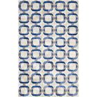 Cartwright Hand-Woven Ivory/Blue Area Rug Rug Size: Rectangle 4' x 6'