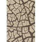 Cavour Hand Tufted Wool Beige/Dark Brown Area Rug