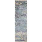 Moises Hand-Knotted Blue Area Rug Rug Size: Runner 2'3