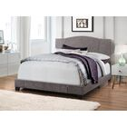 Black Mesa Modified Camel Back Upholstered Panel Bed Color: Denim Sand, Size: King