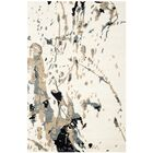 Adan Hand-Tufted Wool Ivory/Gray Area Rug Rug Size: Rectangle 3' x 5'