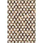 Easthampton Hand-Woven Ivory/Brown Area Rug Rug Size: Rectangle 3'4
