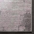 Costa Mesa Light Gray/Purple Area Rug Rug Size: Round 8'