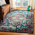 Chelsie Blue/Fuchsia Area Rug Rug Size: Rectangle 3' x 5'