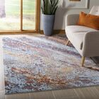 Foresta Purple/Blue Area Rug Rug Size: Rectangle 5'1