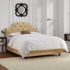 Enedina Upholstered Panel Bed with Mattress Color: Velvet - Buckwheat, Size: Queen