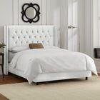 Allbright Upholstered Panel Bed Color: Velvet White, Size: Full