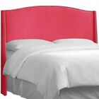 Brunella Nail Button Upholstered Wingback Headboard Size: Queen