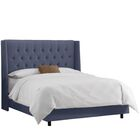 Edgewood Upholstered Panel Bed Color: Linen - Regal Ocean, Size: California King